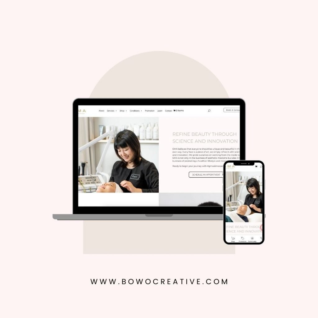 Website design for beauty salons & medical aesthetic clinics